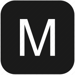 eng, english, keyboard, latin, letter, m, uppercase icon