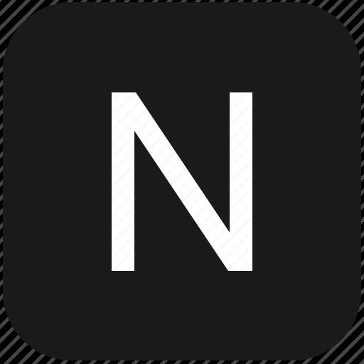 eng, english, keyboard, latin, letter, n, uppercase icon