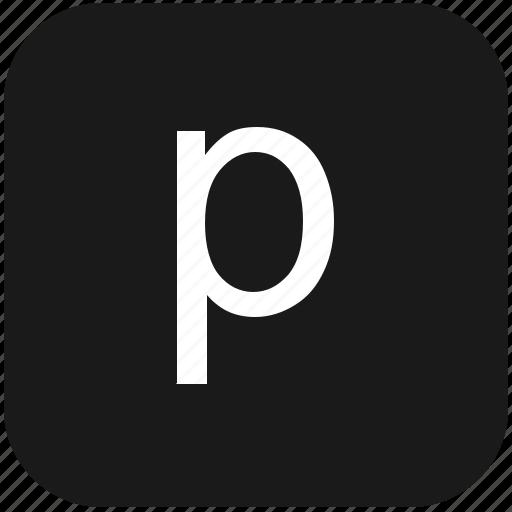 eng, english, keyboard, latin, letter, lowcase, p icon
