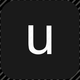 eng, english, keyboard, latin, letter, lowcase, u icon