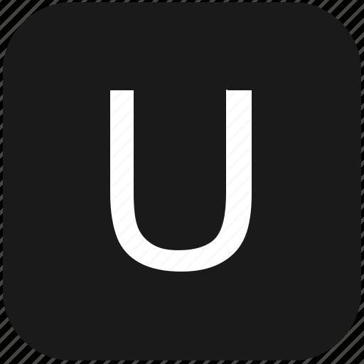 eng, english, keyboard, latin, letter, u, uppercase icon