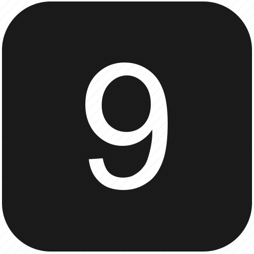 count, keyboard, nine, number icon