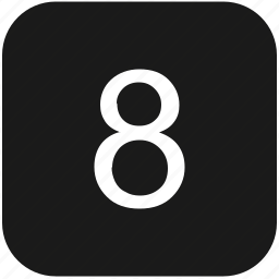count, eight, keyboard, number icon