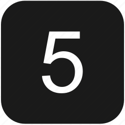 count, fifth, five, keyboard, number icon
