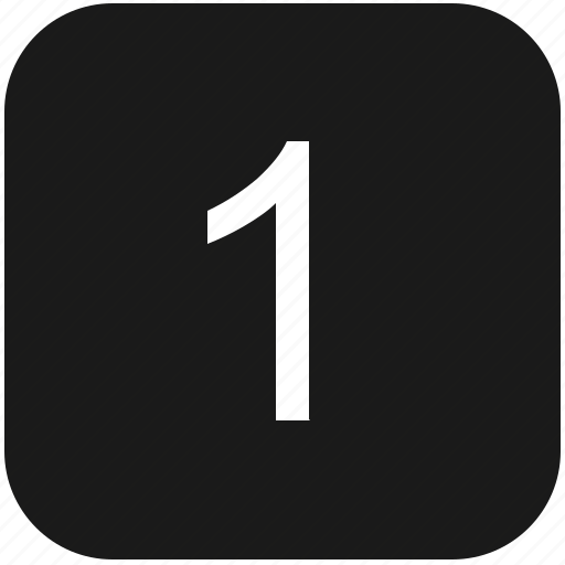 count, first, keyboard, number, one icon