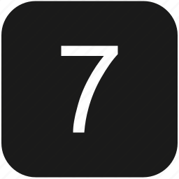 count, keyboard, number, seven icon