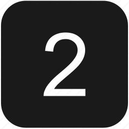 count, keyboard, number, second, two icon