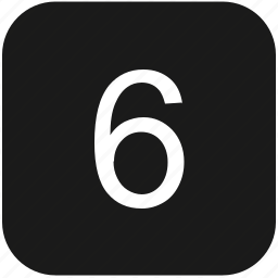 count, keyboard, number, six icon