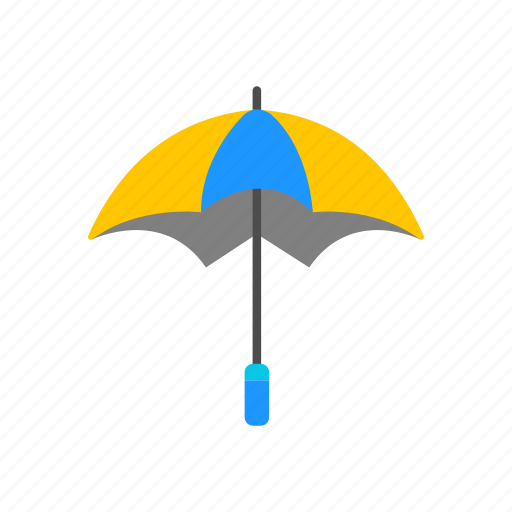 rainy, sunny, umbrella, weather icon