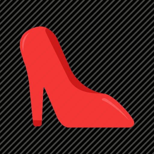 heels, red stiletto, shoes, stiletto icon