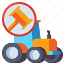 agricultural, auction, vehicle, tractor