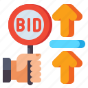 bid, increment, auction, gavel