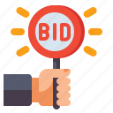 bidding, paddle, auction