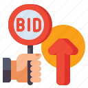 maximum, bid, auction