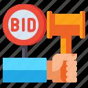 public, auction, gavel