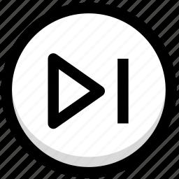 forward, multimedia, next icon