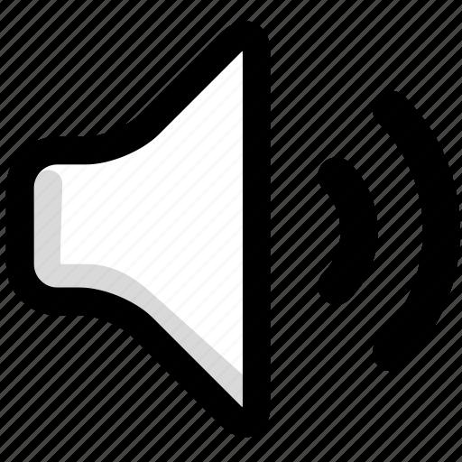multimedia, sound, speaker, volume icon