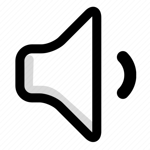 decelerate, multimedia, sound, speaker, volume icon