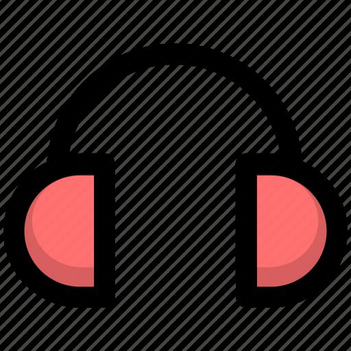 earphone, earpiece, headphone, headset, music icon