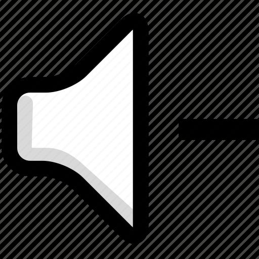 decrease, multimedia, sound, speaker, volume icon