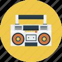 radio, boombox, music