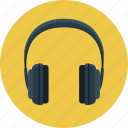 headphone, headset, listening, music, sound icon