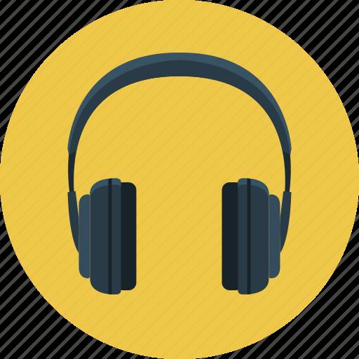 headphone, headset, listening, music, sound icon