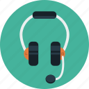 headphone, headset, listening, mic, music, talk icon
