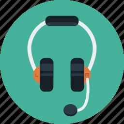 headphone, headset, listening, mic, music, talk icon