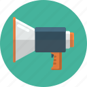 megaphone, talk, volume icon