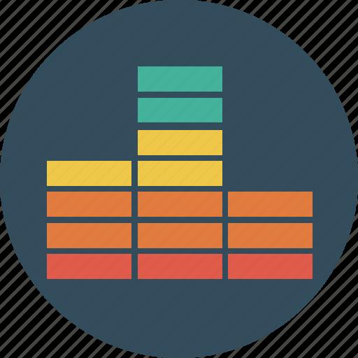 equalizer, music, sound, visualizer icon