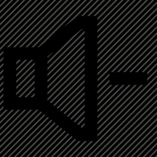 audio, decrease, media, minus, multimedia, sound, volume icon