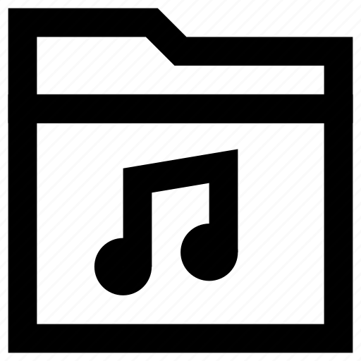 audio, file, folder, media, multimedia, music, sound icon