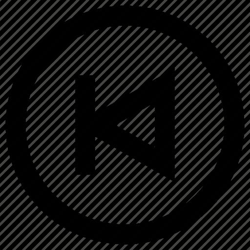 audio, back, media, multimedia, pointer, previous, sound icon