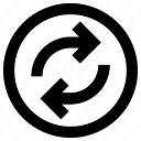 arrow, arrows, audio, media, multimedia, replay, sound icon