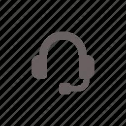 audio, headphones, mic icon
