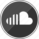 audio, cloud, stream, streaming, upload icon