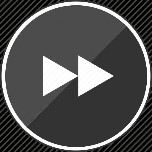 beat, fast, forwarding, music, track icon