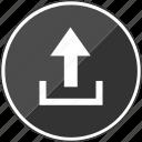 itunes, music, stream, up, upload icon