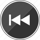 arrows, audio, back, left, rewind, track icon