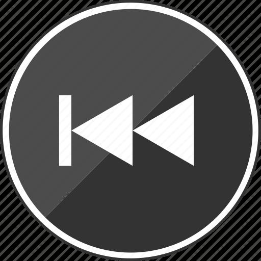 arrows, audio, back, left, rewind, track icon