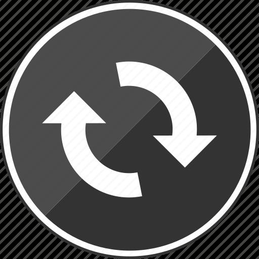 arrows, audio, loope, looping, music, rotate icon