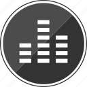 beat, beats, equalizer, music, three icon
