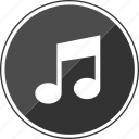 auido, compose, itunes, music, note, track icon