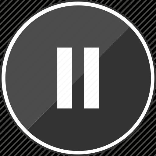 audio, line, music, pause icon