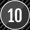 audio, music, ten, top, track icon