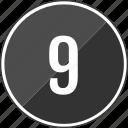 audio, music, nine, track icon