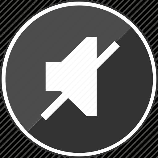audio, closed, line, music, no, stop, volume icon