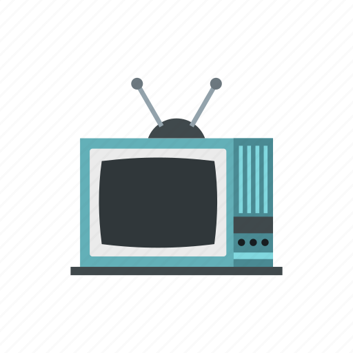 broadcast, electronic, old, retro, screen, television, tv icon