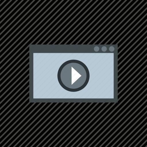 computer, internet, media, monitor, movie, multimedia, video icon